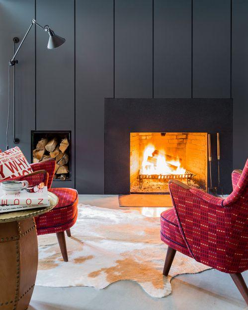 灰色个性摩登美式客厅装潢案例