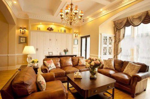 2016精致华丽美式风格客厅装修效果图