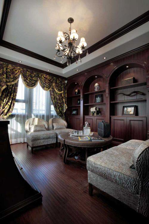 复古美式客厅装修布置