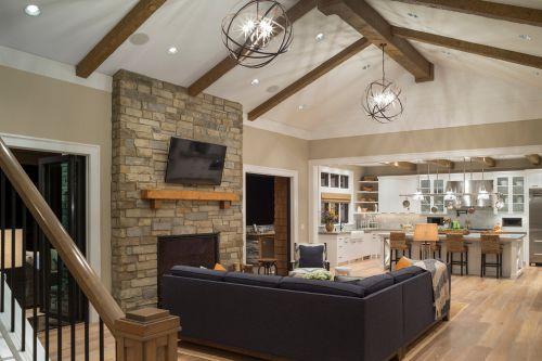 美式质朴稳重客厅图片欣赏