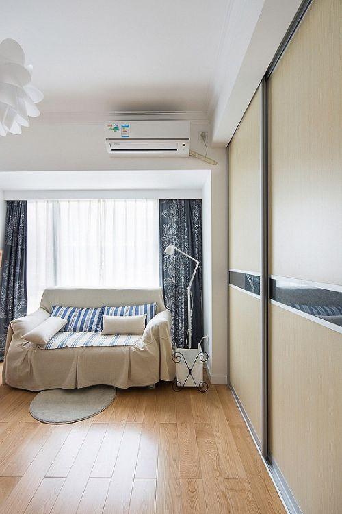 2016白色温馨美式客厅收纳柜设计装潢