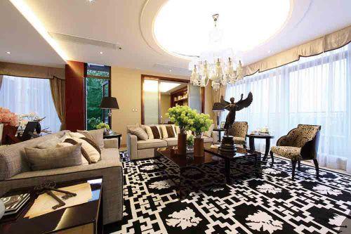美式客厅装修设计图