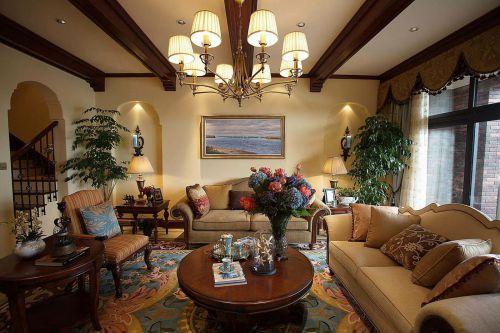 美式风格温馨客厅美图欣赏