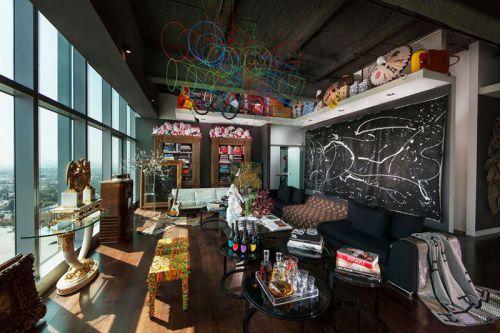 美式风格大气黑色客厅设计欣赏