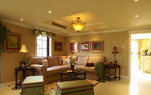 现代美式风格公寓客厅设计图片
