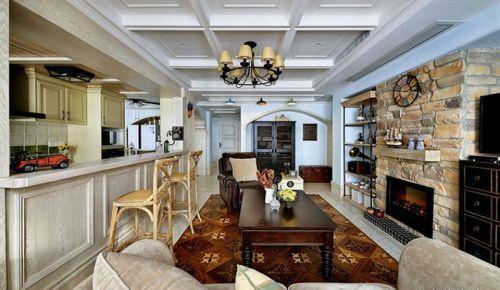 美式风格休闲客厅装修设计欣赏