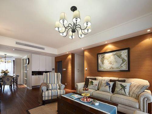 美式风格大气简约客厅装饰图片