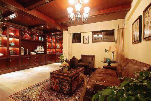 复古美式风格客厅装修效果图片