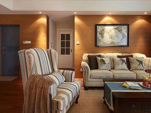 温馨怀旧美式风格客厅装修效果图片