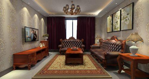 美式风成熟稳重客厅设计装潢