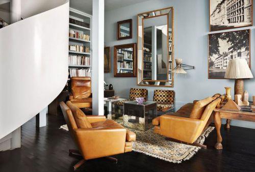 美式摩登时尚风格客厅设计图