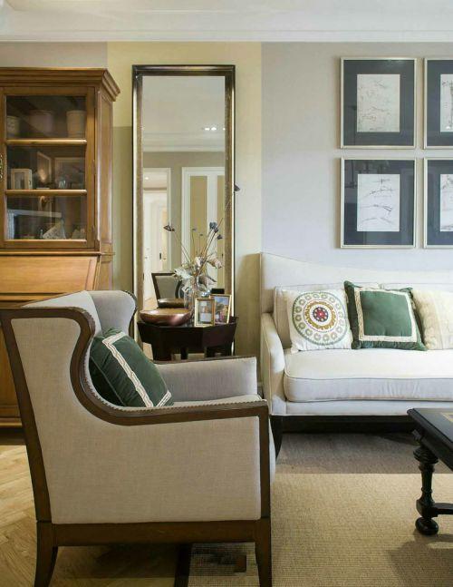 雅致时尚美式风格灰色客厅美图赏析