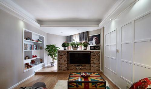 清爽美式风格客厅装潢效果图设计