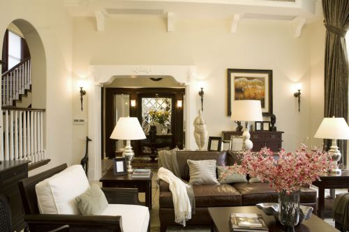 美式风格雅致米色客厅效果图欣赏