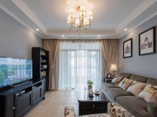 2016美式休闲舒适客厅装修效果图