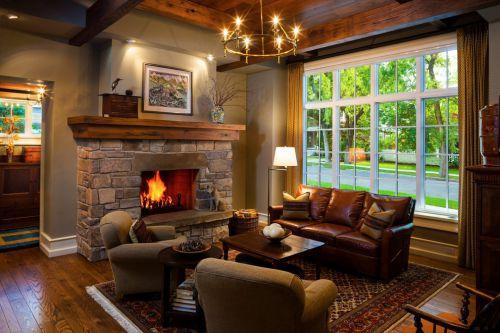 休闲美式风格客厅装修效果图