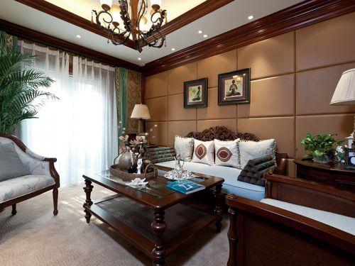 大气美式三居室客厅装修案例
