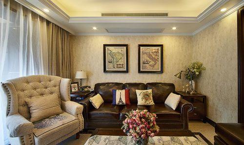 美式个性沉稳大气客厅装潢美图赏析