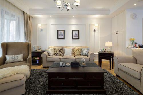 2016大气美式风格客厅效果图设计