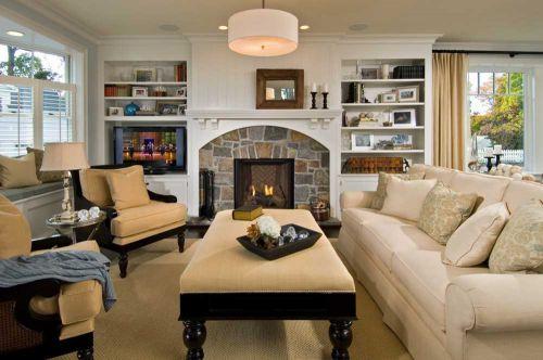 美式乡村风格温馨客厅装修