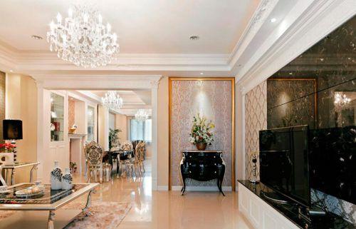 美式风格优雅米色客厅装修效果图