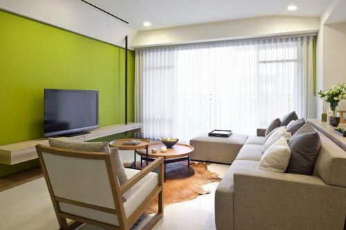 清爽改良美式风格客厅创意装修
