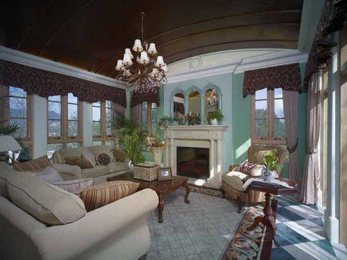 美式田园清新风格客厅设计欣赏