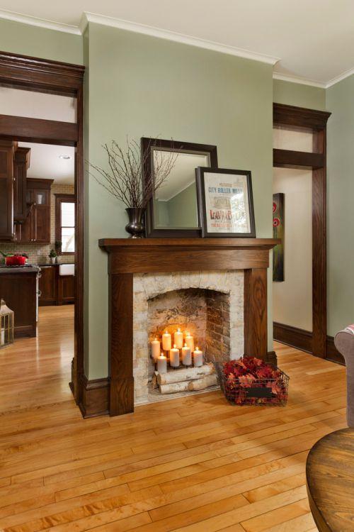 2016美式客厅壁炉设计案例