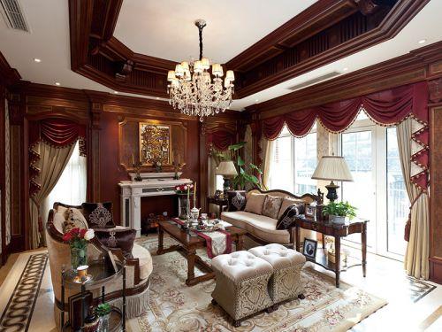 奢华雅致美式客厅设计装潢