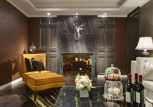 美式风格质感灰色客厅装修设计