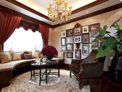 复古时尚美式风格客厅装饰布置