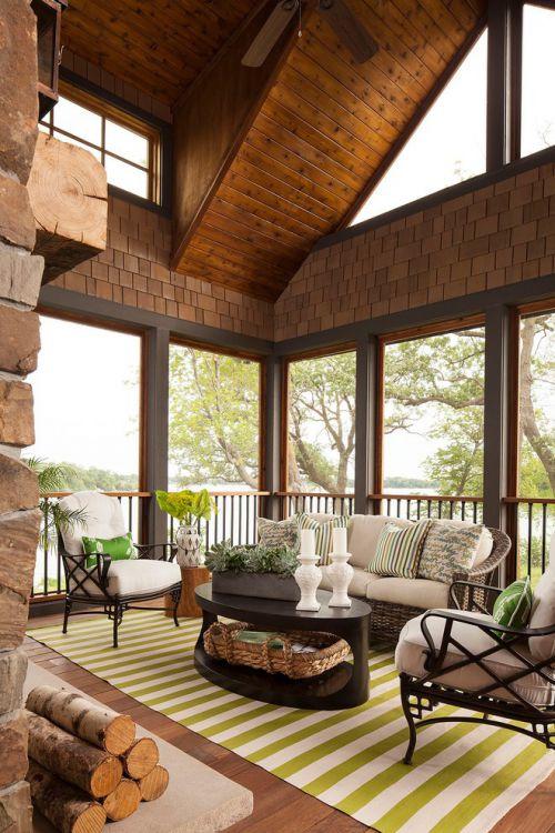 美式风格大气褐色客厅效果图赏析
