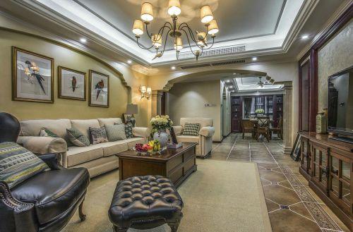 混搭风格大气米色客厅装修设计