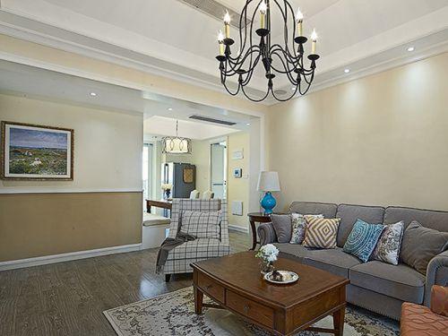 简约美式风格客厅装潢布置