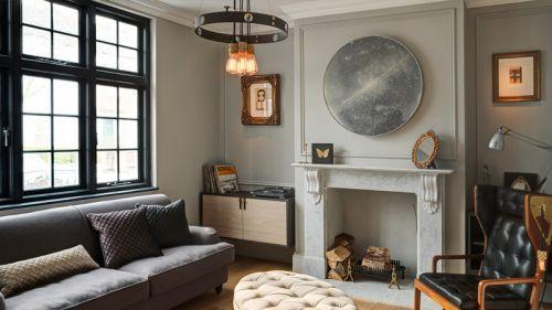 个性清爽混搭灰色客厅装修效果图片
