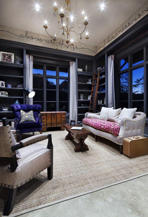 东南亚混搭风格黑色客厅装修设计
