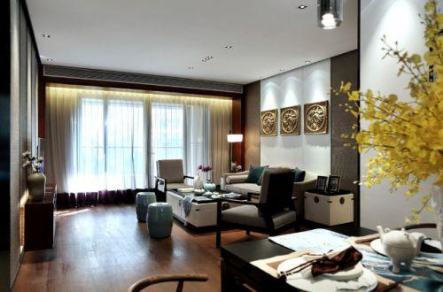 白色素雅混搭风格客厅装修设计