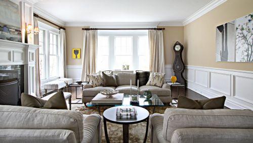 美式风格客厅装修设计图