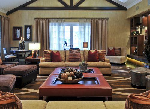 华丽低奢混搭风格客厅装饰设计图片