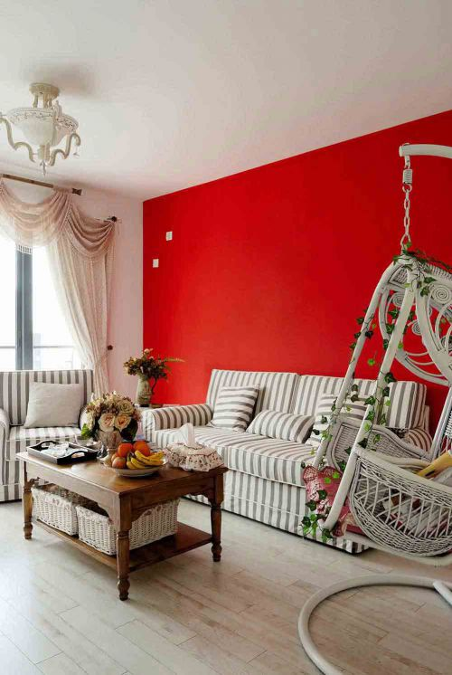 精致创意混搭风格浪漫客厅装潢