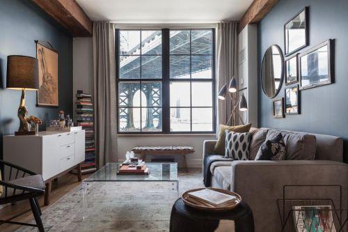 美式乡村素雅清新客厅装修设计欣赏