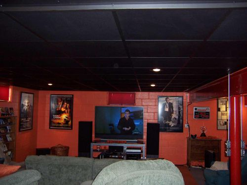 红色个性混搭风格客厅装潢装饰设计图片