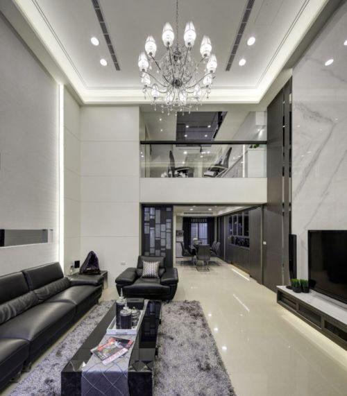 时尚简洁混搭风格客厅装修美图