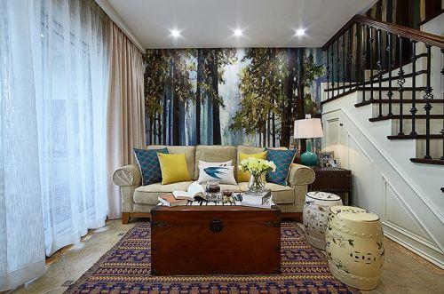 美式风格休闲客厅效果图赏析
