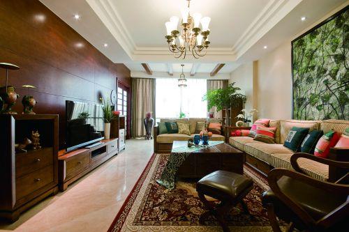 2016中式古典混搭客厅设计