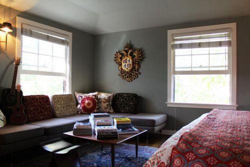 2016混搭风格灰色客厅装修布置