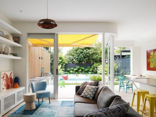 2016白色混搭风格客厅设计装潢