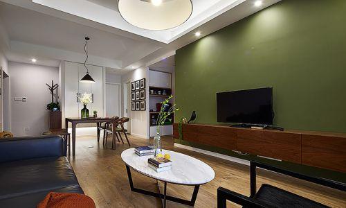 清新混搭风格设计客厅效果图