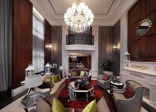 精致高端美式风格别墅客厅设计