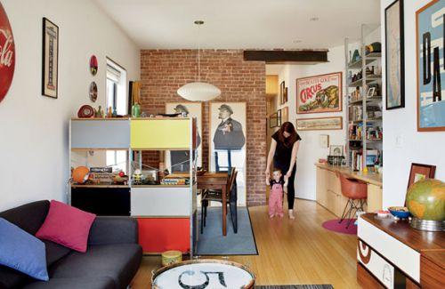 混搭个性实用米色小户型客厅设计